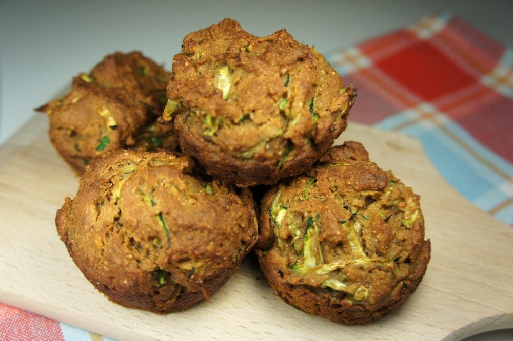 wheat zucchini muffins with feta parmesan and green onions zucchini ...